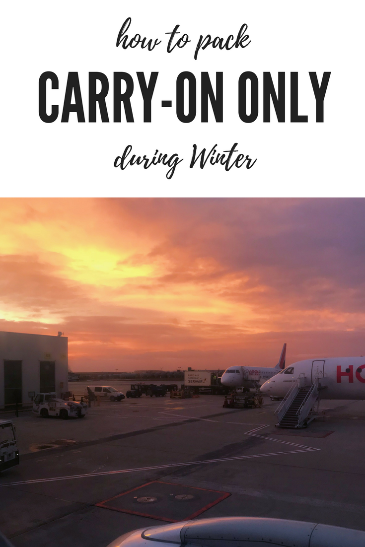 How to Pack Carry-On Only During Winter | Don't let winter clothes get in the way of your cabin-bag only rule! You CAN pack for winter in just carryon luggage!