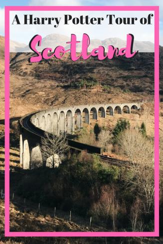 A Harry Potter Tour of Scotland | Harry Potter | Edinburgh | Travel to Scotland and see Harry Potter filming locations! | Harry Potter Bridge | Glenfinnan Viaduct | Hogwarts | Black Lake | Lock Shiel | Glen Coe | Hagrid's Hut