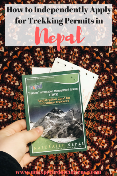 Trekking in Nepal and gotta get your permits? I've got you covered! You don't have to go through an agency to do this, you can do it all on your own, from either Kathmandu or Pokhara | How to Independently Apply for Trekking Permits in Nepal | travel tips | #travel |
