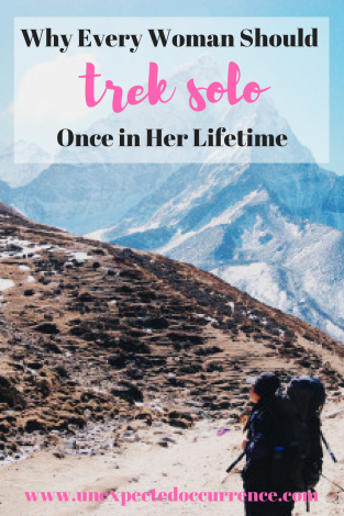 Why Every Woman Should Trek Solo Once in Her Lifetime | Solo trekking is such an empowering thing to do. It should be on every woman's bucket list! Here's why you should #travel solo, have adventures, and trek on your own!