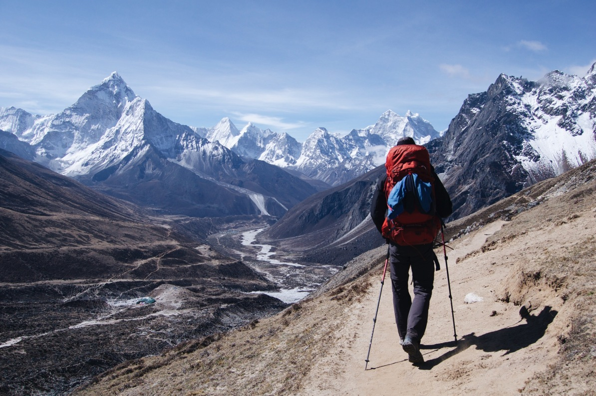 How to Trek the Three Passes Independently: Trekker in the mountains
