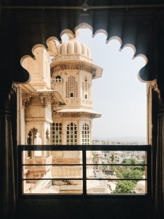 Best Sunset Spot in Udaipur: palace through a window