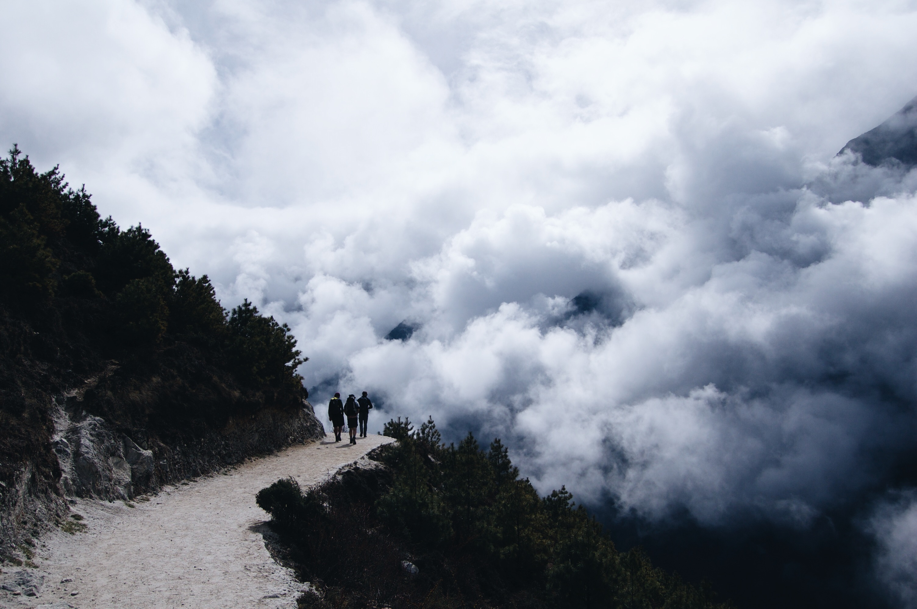 How to Trek the Three Passes Independently: Path in the clouds