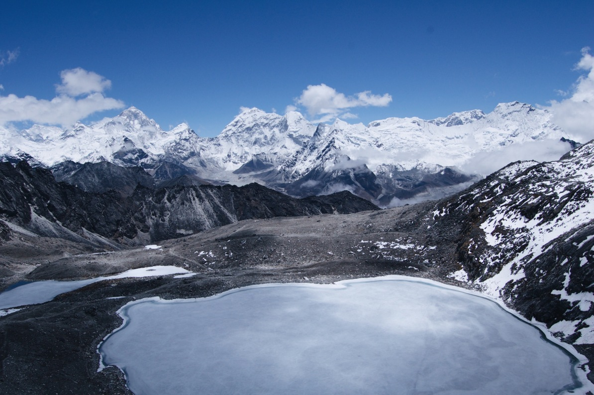 How to Trek the Three Passes Independently: Himalayas and a frozen lake from Kongma La