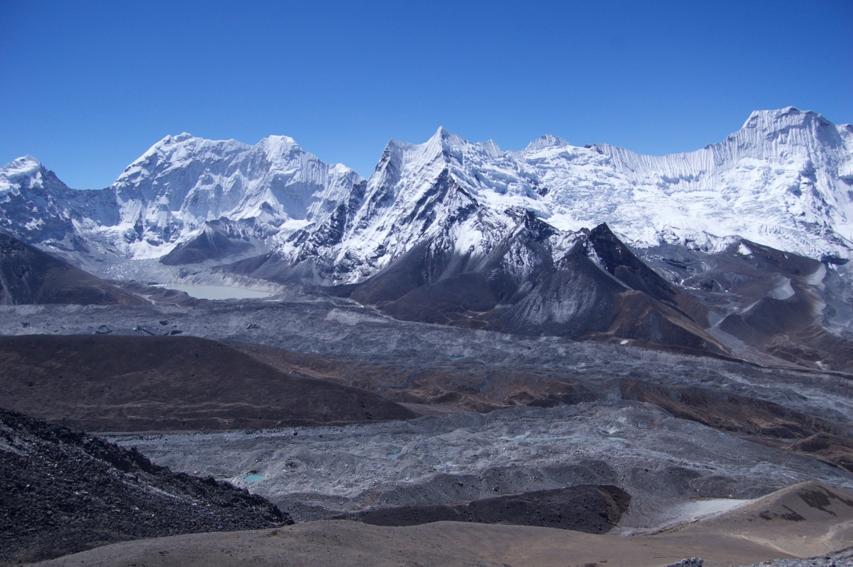 How to Trek the Three Passes Independently: mountains from Chukkung Ri